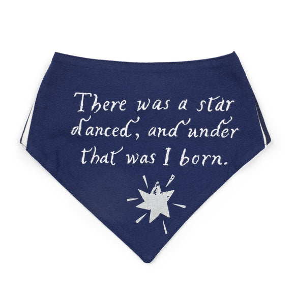 Star Navy Blue Dribble Bib