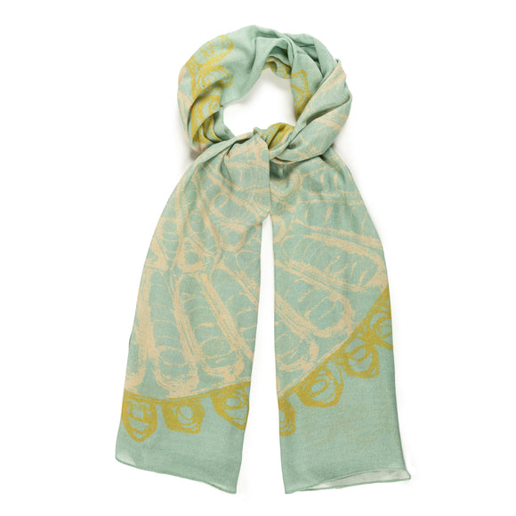 Filigree Design Sage Scarf