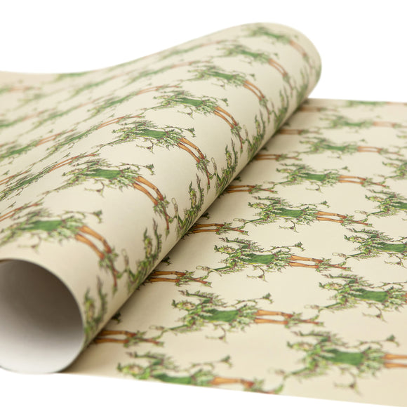 Gift Wrap Walter Crane 'Green Holly'