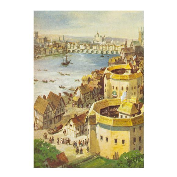 Greetings Card Shakespeare's London Theatres
