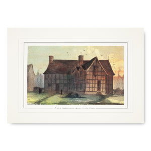 Shakespeare's Birthplace (from Garden) Mounted Print