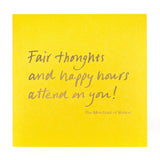 Greetings Card 'Fair thoughts'
