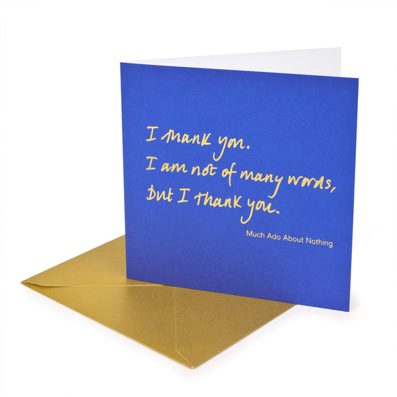 Greetings Card 'I thank you'