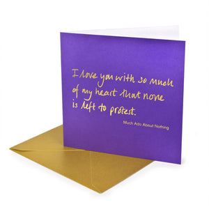 Greetings Card 'I love you'