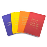 Colourblock A6 Notebook 'Speak, breathe, discuss'