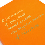 Colourblock A5 Notebook 'O for a muse of fire'
