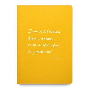 Colourblock A5 Notebook 'I am a scribbled form'