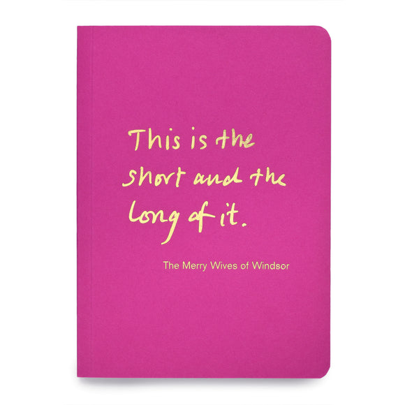 Colourblock A6 Notebook 'This is the short and the long of it'