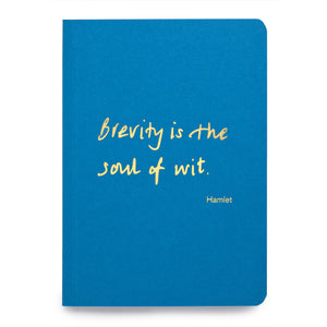 Colourblock A6 Notebook 'Brevity is the soul of wit'