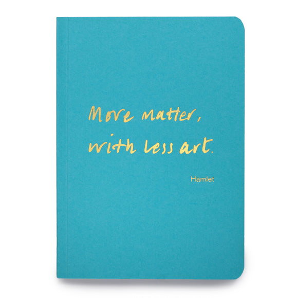 Colourblock A6 Notebook 'More matter, with less art'