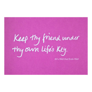 Colourblock Postcard 'Keep thy Friend'