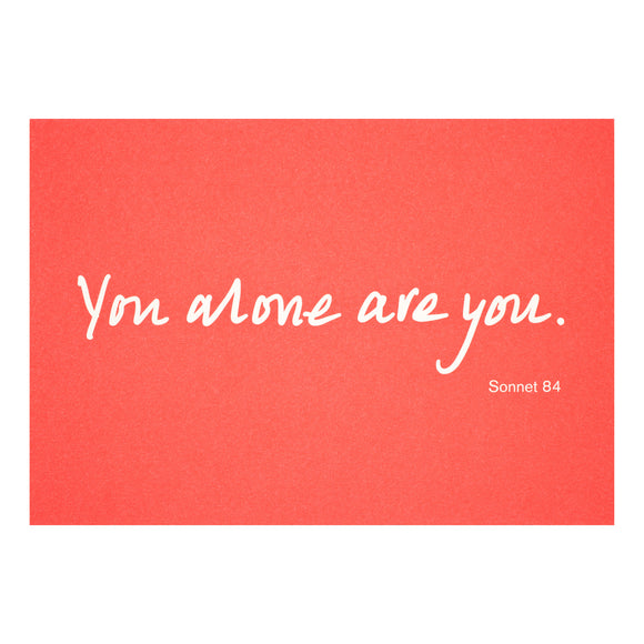 Colourblock Postcard 'You Alone are You'