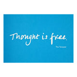 Colourblock Postcard 'Thought is Free'