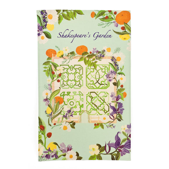 Shakespeare's Garden Tea Towel