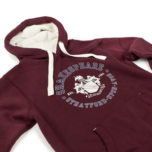 Shakespeare Coat of Arms Maroon Hoodie