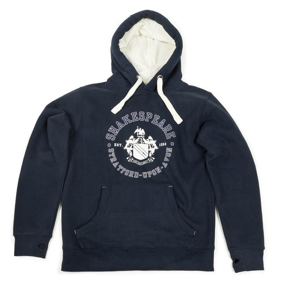 Shakespeare Coat of Arms Navy Hoodie