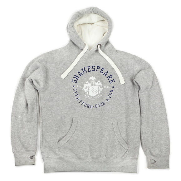 Shakespeare Coat of Arms Grey Hoodie
