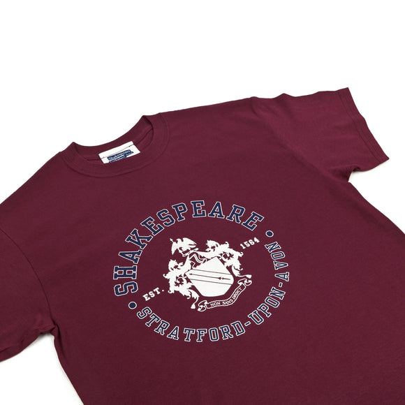 Shakespeare Coat of Arms Maroon T-Shirt