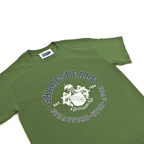Shakespeare Coat of Arms Green T-Shirt