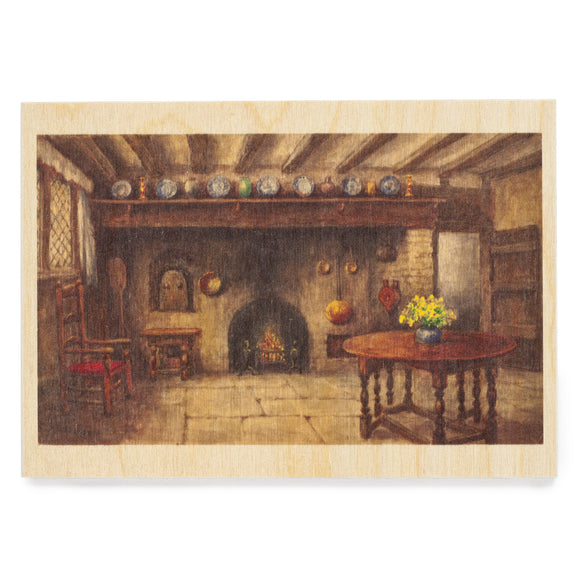 Wooden Postcard Anne Hathaway's Kitchen