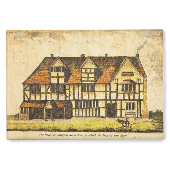Wooden Postcard Shakespeare's Birthplace