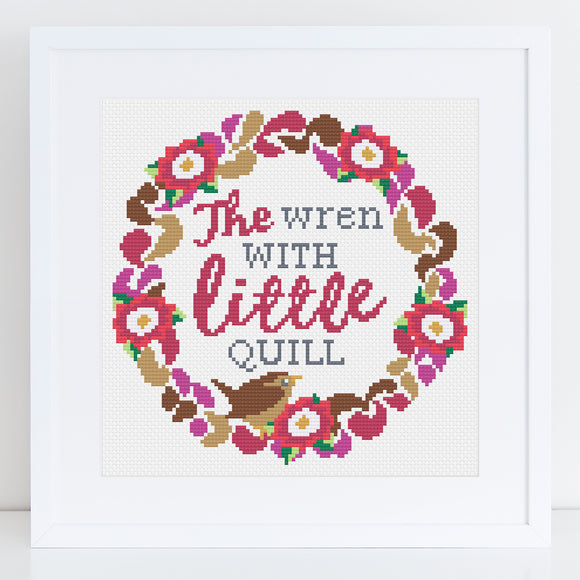 'Wren with the Little Quill' Cross Stitch