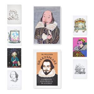 Shakespeare Portraits Postcard Collection