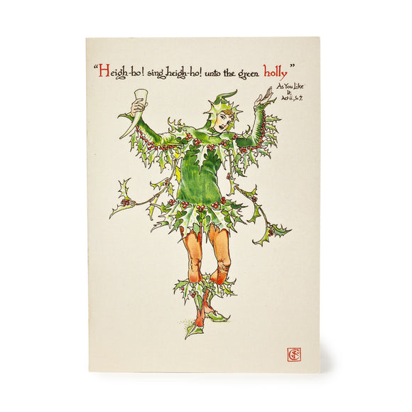 Christmas Card 'Unto the green holly'
