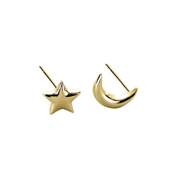 Moon and Star Small Earring