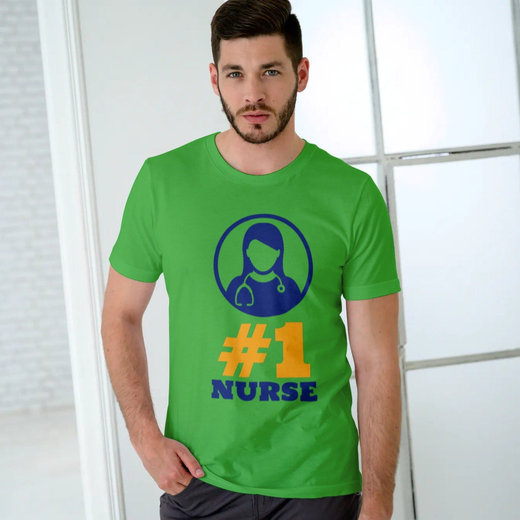 #1 Nurse, Men's tee Men's Gildan T- shirt(USA Size)(Model T02)