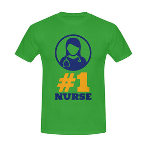 #1 Nurse, Men's tee Men's Gildan T- shirt(USA Size)(Model T02) S Green
