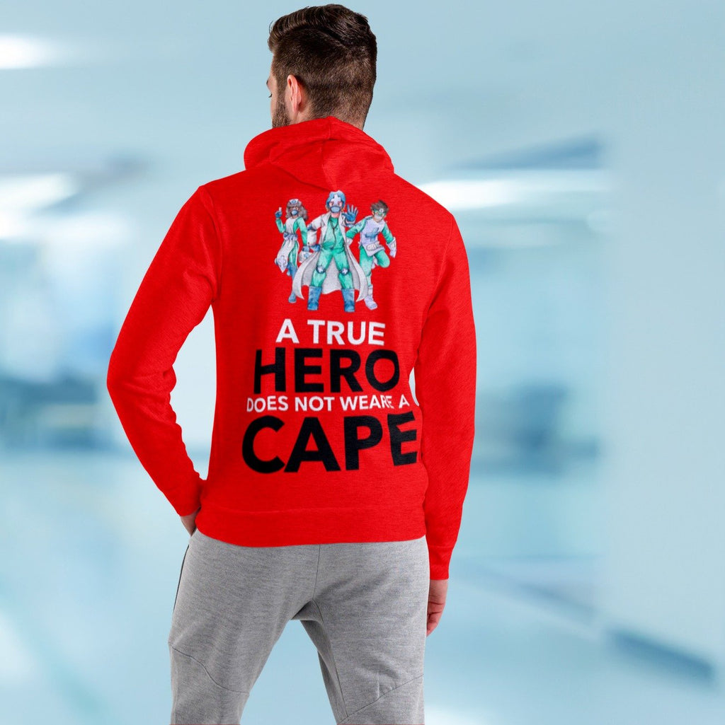 A true hero does not wear cape, Men's Hoodie Men's All Over Print Hoodie (USA Size) (Model H13)