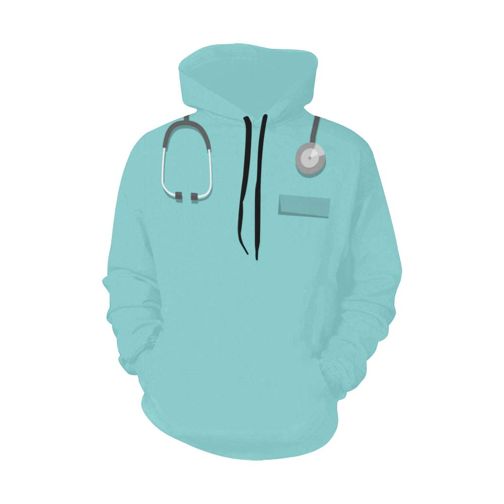 Living the nurse life Women's scrubs hoodie Women's All Over Print Hoodie (USA Size) (Model H13)