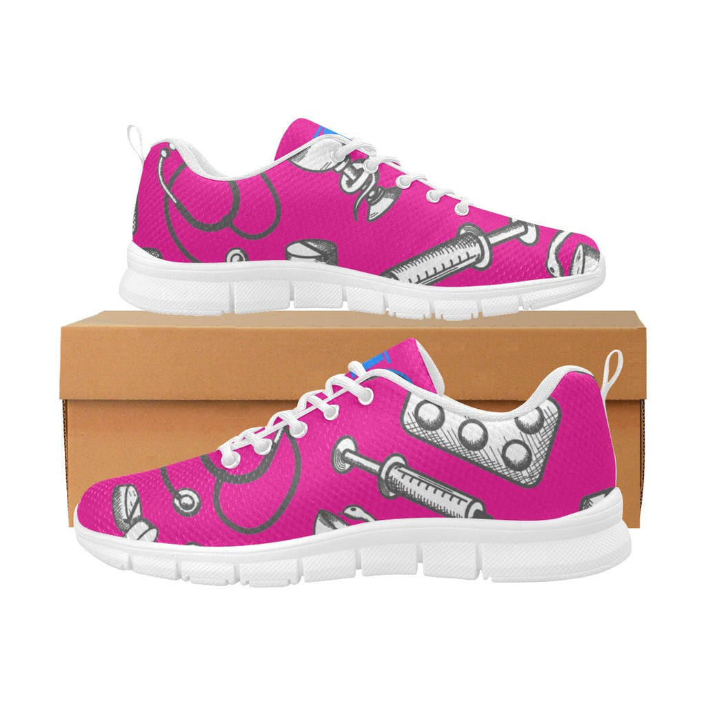 NuMA Nurses Suburbia Womens sneakers Women's Breathable Sneakers (Model 055) US6 / EU37 Pink