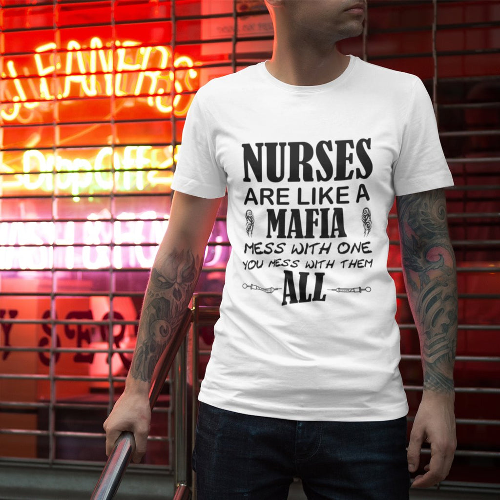 Nurse mafia men's tee Men's Gildan T- shirt(USA Size)(Model T02)