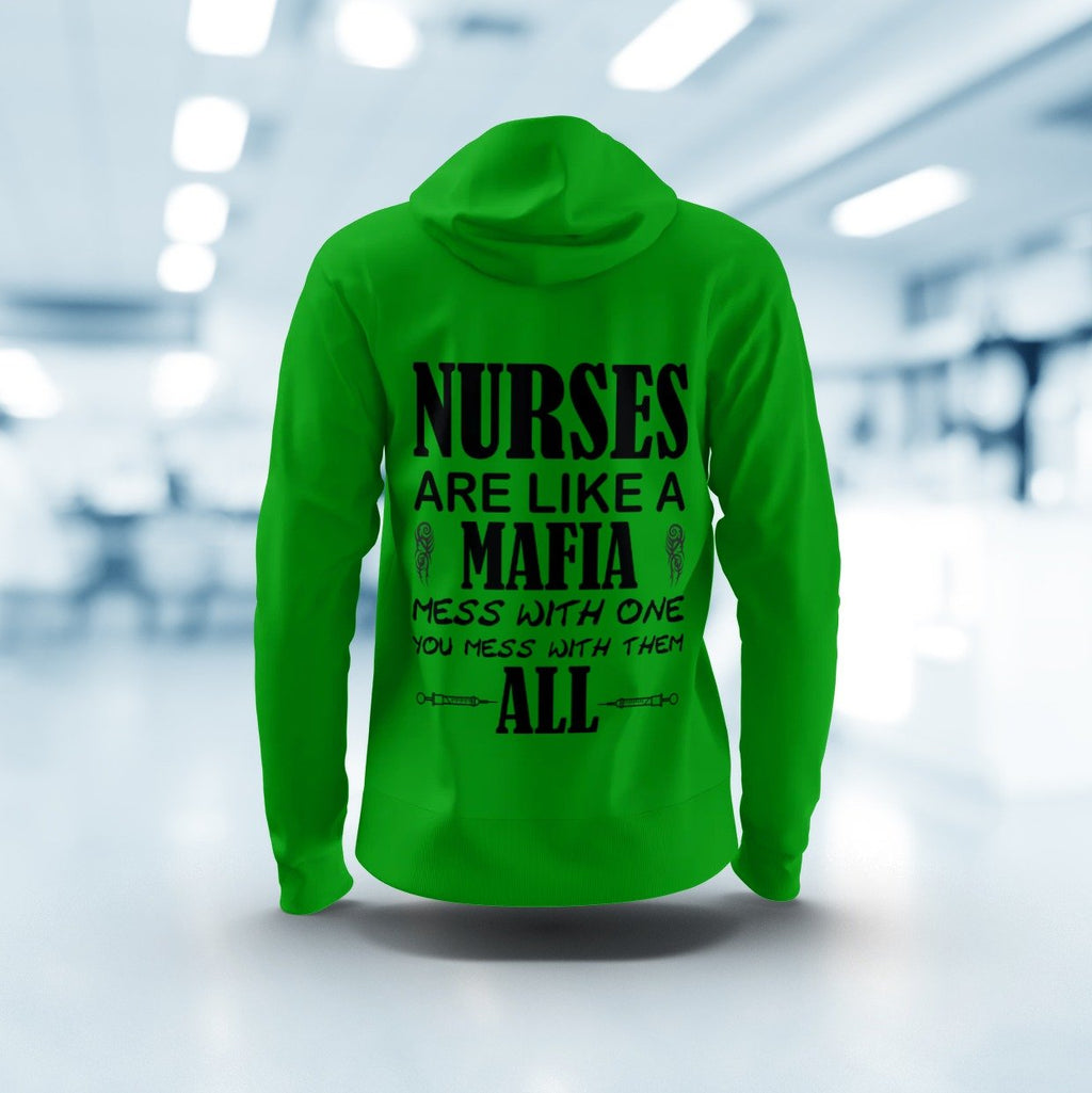 Nurse mafia, women's hoodie Women's All Over Print Hoodie (USA Size) (Model H13)