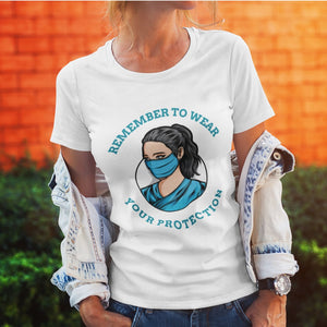 Remember to wear your protection, Women's tee Women's Gildan T-shirt(USA Size)(Model T01)