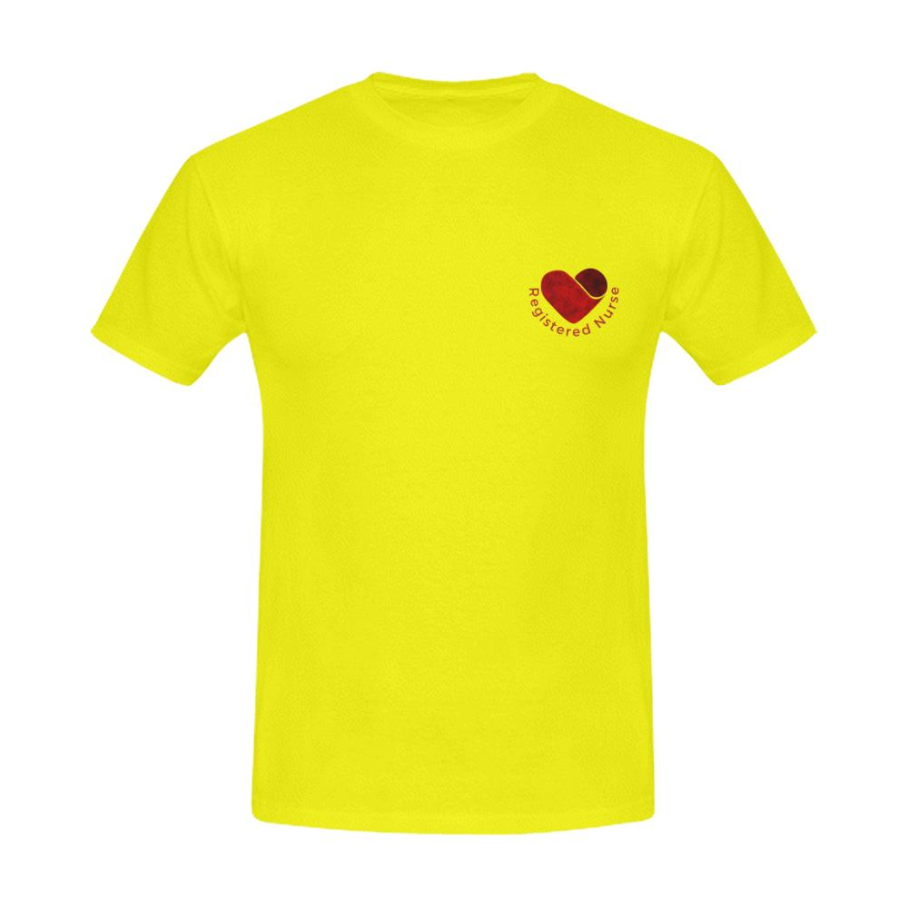 RN Shirt, Men's tee Men's Gildan T- shirt(USA Size)(Model T02) S Yellow