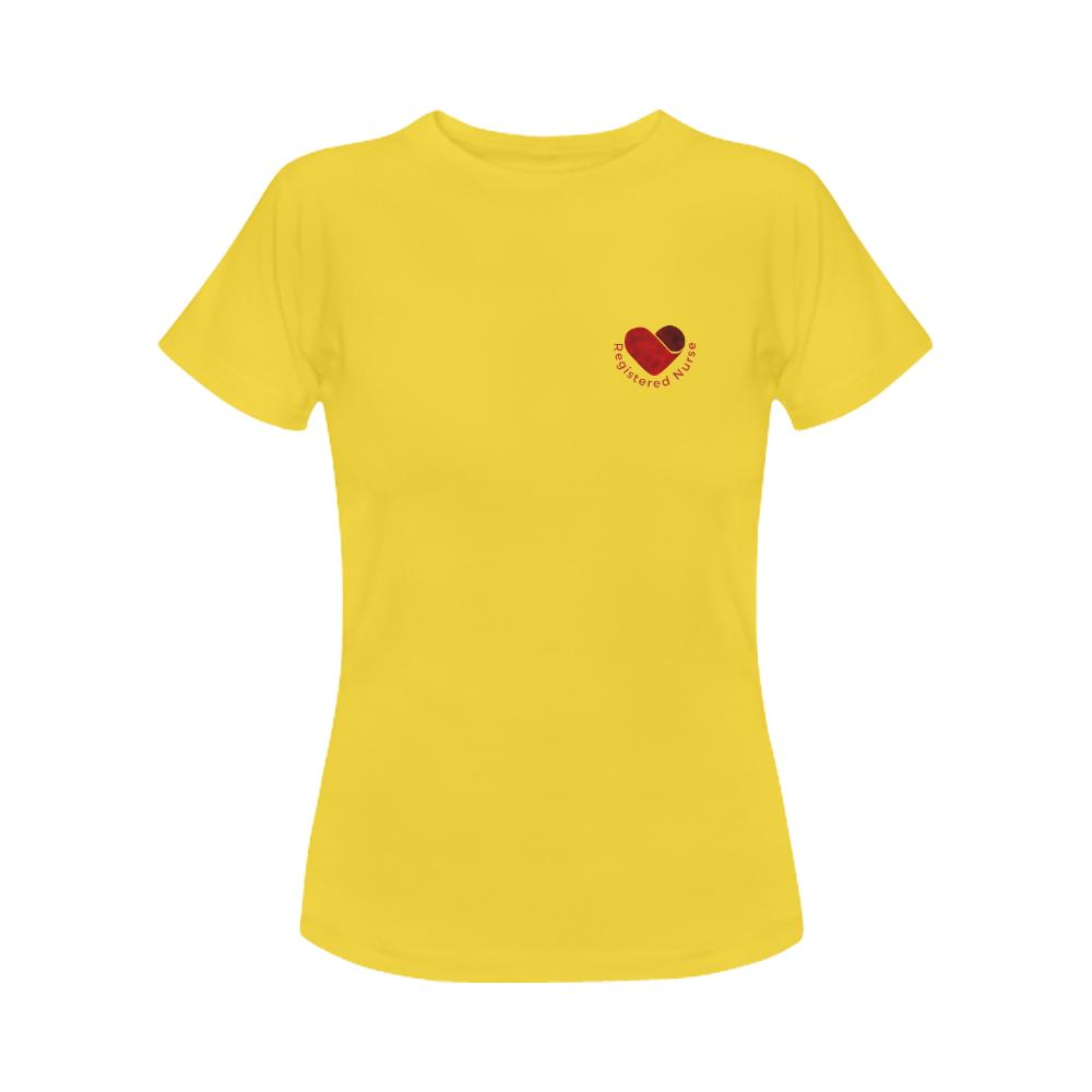 RN shirt, Womens tee Women's Gildan T-shirt(USA Size)(Model T01) S Yellow