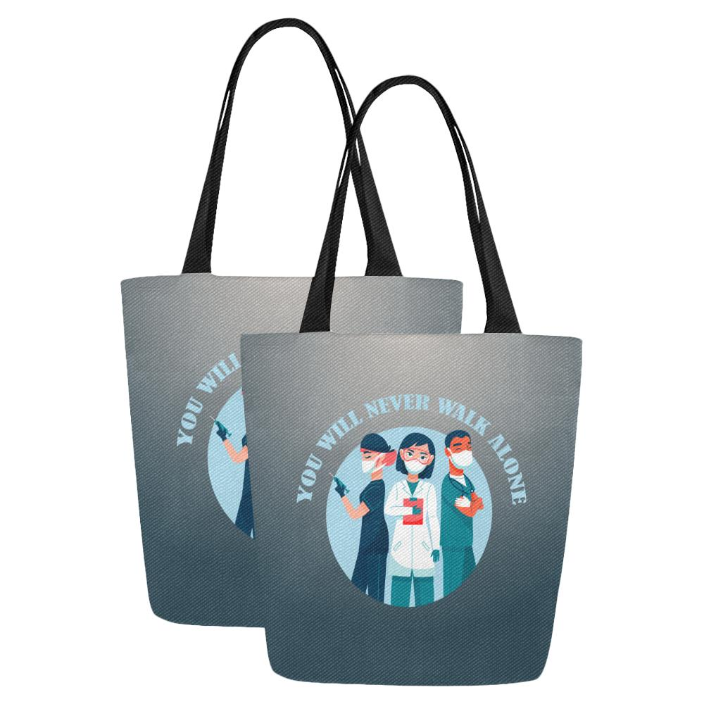 You will never walk alone, tote Tote bags One Size Set of 2