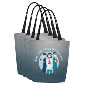 You will never walk alone, tote Tote bags One Size Set of 4