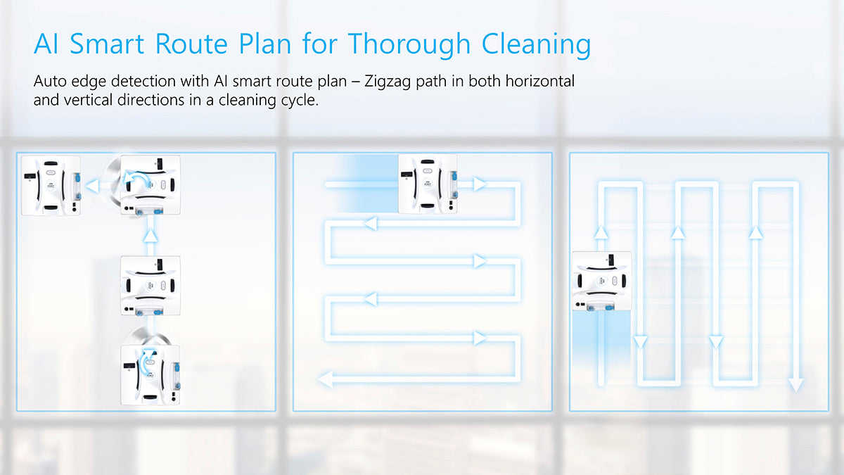 AI smart route plan for cleaning