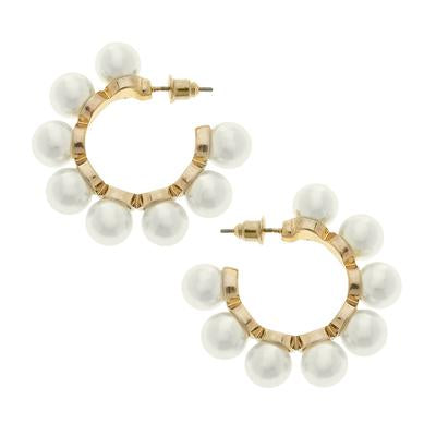 Canvas Bella Hoop Earrings