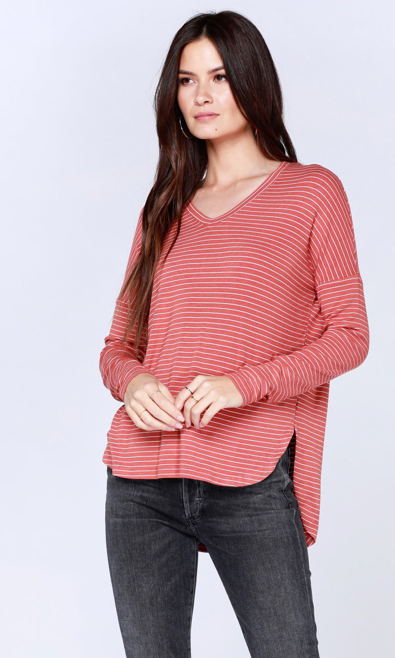 Bobi Drop Slv  V-Neck
