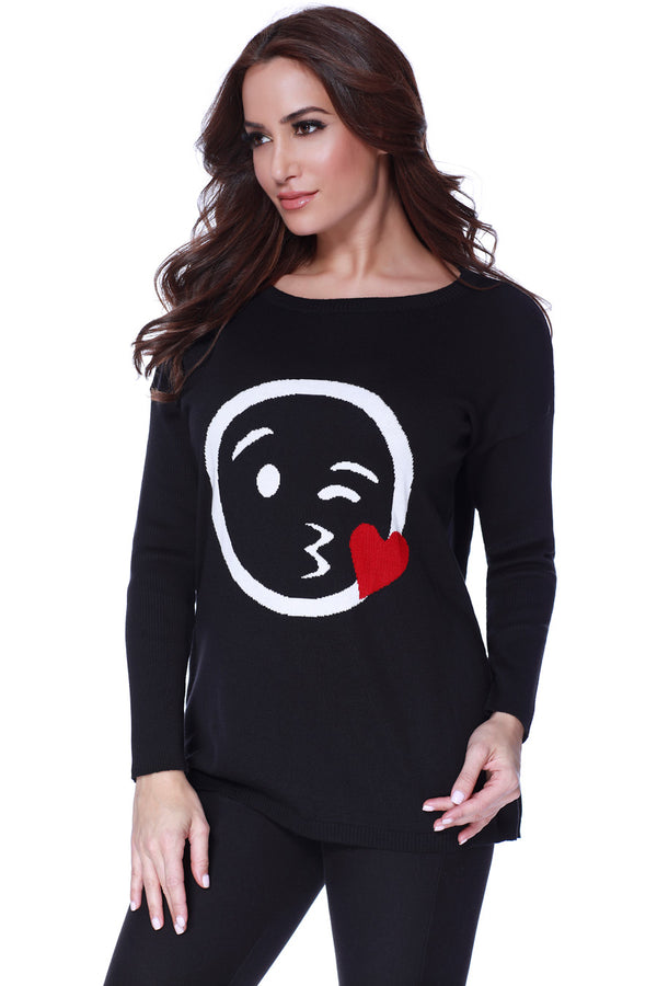 Angel Kiss Emoji Sweater