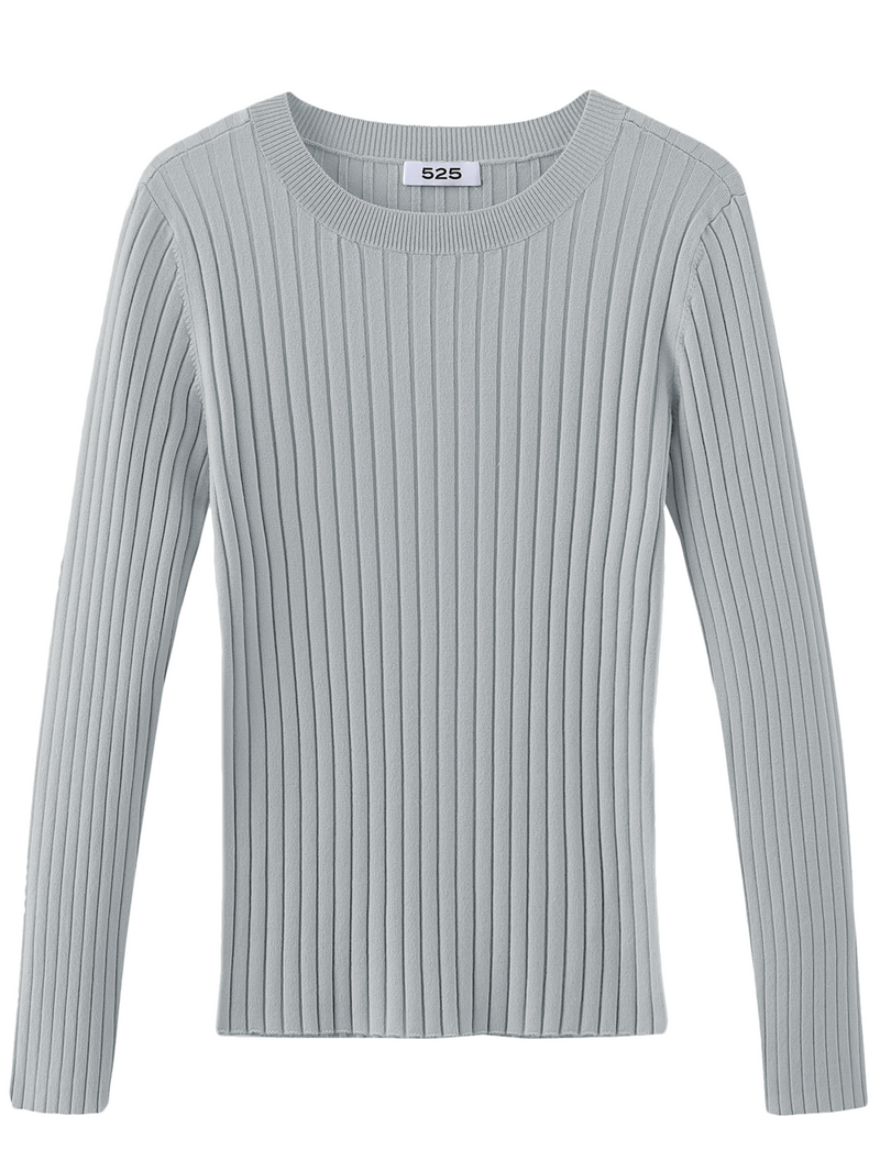 525 Long Sleeve Ribbed Sweater