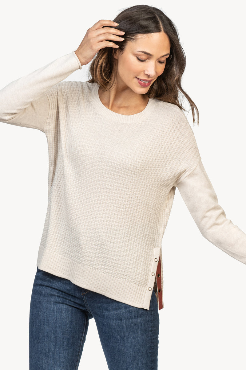 Lilla P Side Snap Pullover Sweater