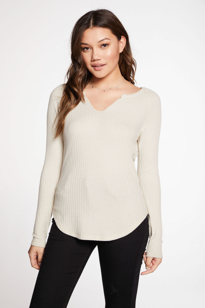 Chaser Thermal Split Neck Tee