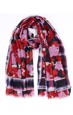 Echo Watery Plaid Floral Wrap