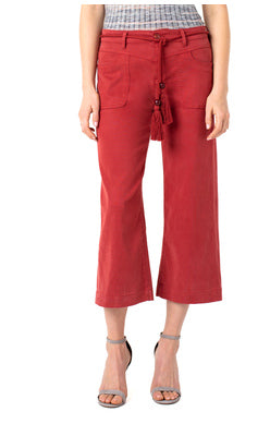 liverpool Wide Leg Crop W/Belt